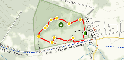 Hopewell Mound Interpretive Trail Map