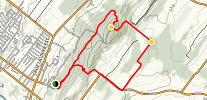 Antenna Loop Trail - Boucle des Antennes  Map