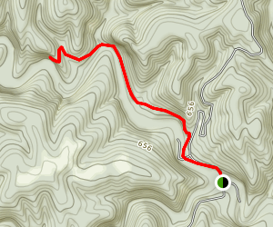North Sylamore Creek: Barkshed to Allison (AR 5) Map