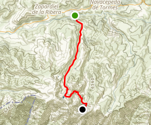Navalperal de Tormes to Refugio Elola (via 5 Lagunas) Map