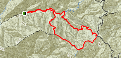 Trabuco, Bell, Yeager Loop Trail Map