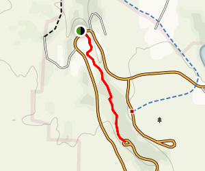 South West Bank of Lost Creek Trail Map