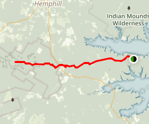 Trail Between the Lakes Map