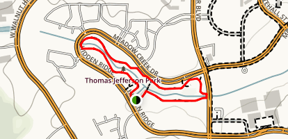 Jefferson Park Trail Map