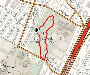 Blunn Creek Greenbelt Trail Map