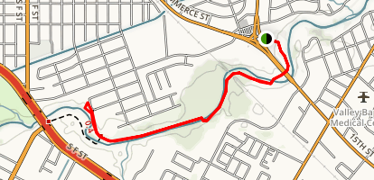 Arroyo Hike and Bike Trail Map