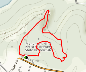 Monument Hill and Kreische Brewery Loop Trail Map