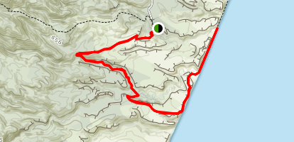Dawn Creek to Sawpitt Creek Track Map