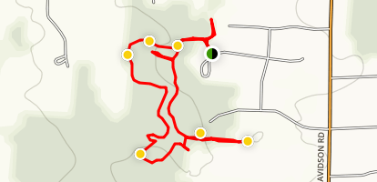 Tabor Woods Trail Map