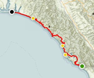 Palomarin Trail to Limantour Beach Map