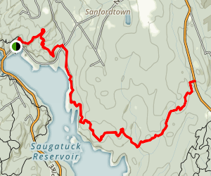 Saugatuc Blue Trail East Map