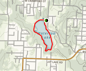 Waterloo Lake Trail Map