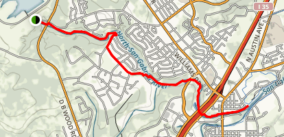 San Gabriel River Trail Map