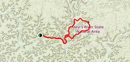 Devil's River State Natural Area Trails Map