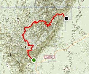 Pine Springs to McKittrick Canyon Map