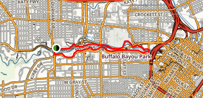 Buffalo Bayou Loop  Map