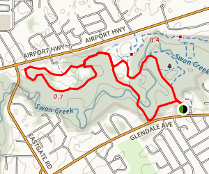 Swan Creek Walk and Bike Path Map