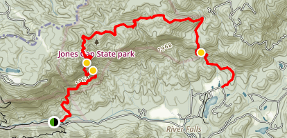 Hospital Rock to Falls Creek Falls Trail Map