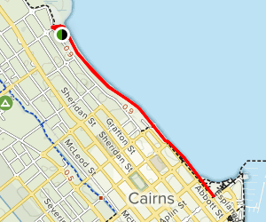 Cairns Esplanade Map