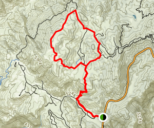 Mt Hillyer via Silver Moccasin & Mt Hillyer trails Map