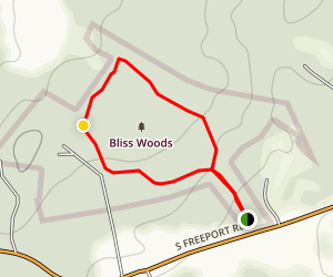 Bliss Woods Loop Trail Map
