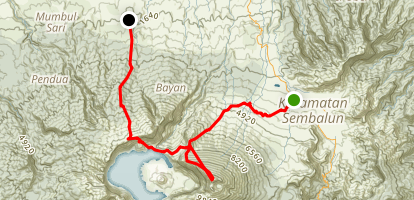Mount Rinjani (Sembalun to Senaru) Map