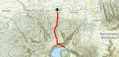 Mount Rinjani (from Senaru) Map