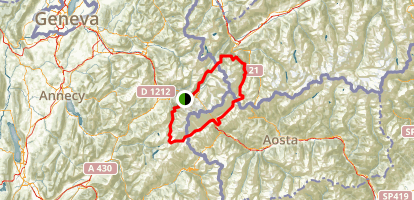 Tour du Mont Blanc Map