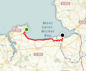 Marathon du Mont St Michel Map