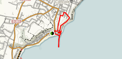 Cancale Lighthouse Walk Map