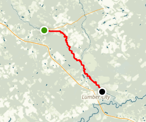 Little Ocmulgee River: Towns to Lumber City Map