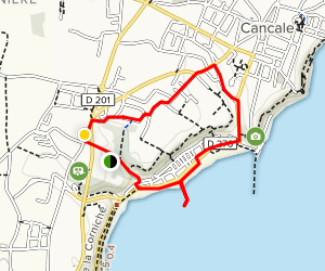 Cancale City Walk Map