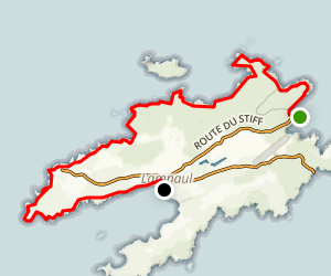 Ile Ouessant North Coast Map
