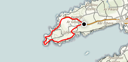 Pointe de Pern Map