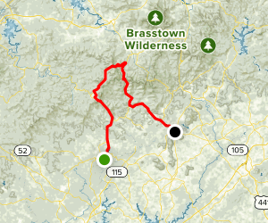 Gold Rush Scenic Drive: Dahlonega to Cleveland Map
