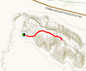 Mount Augustus Summit Trail Map