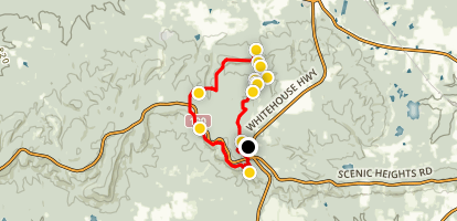 Pine Mountain Trail and White Candle Trail Loop Map