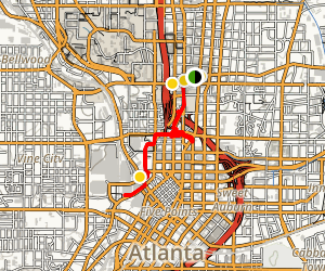 Atlanta Midtown City Walk Map