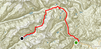 Artesonraju Trail Map