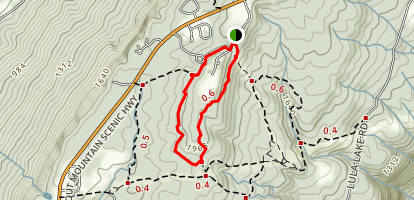 West Brow Lookout Mountain Loop Map