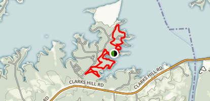 Clarks Hill Lake Loop Trail Map