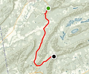 Simms Mountain Rail-Trail Map