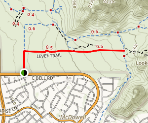 Levee Trail from 104 Street Trailhead Map