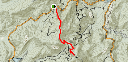 Duncan Ridge Trail To Appalachian Trail Map