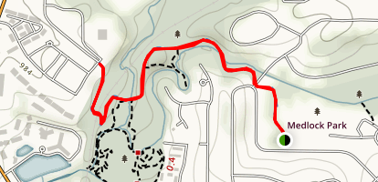 South Peachtree Creek Path Trail Map