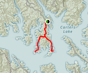 Carters Lake: Woodring Campground Area Map