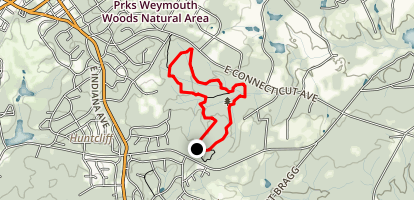 Weymouth Woods Loop Map