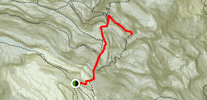 Monte Perdido from Refugio Goriz Map