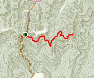 Cherry Bend to Hare Mountain via Ozark Highlands Trail Map