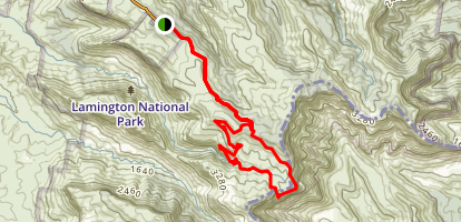 Green Mountains: Main Border Track and Albert River Circuit Loop Map